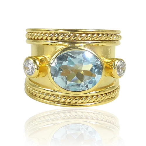 The Fabulous Blue Topaz Guinevere Ring