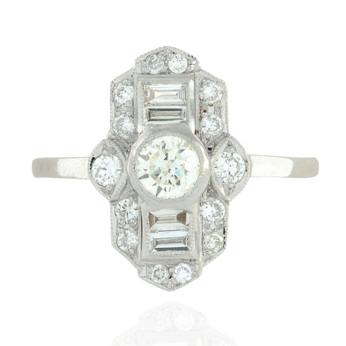 The Deco Diamond Ring