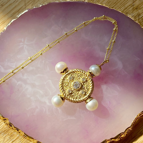 The New Romantics Gold Pearl Pendant
