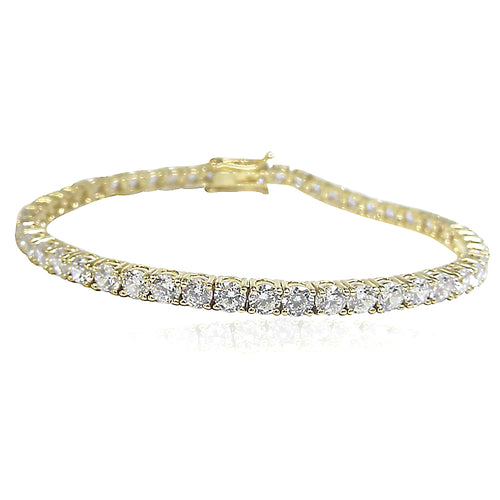 The Gold Tennis Bracelet- 3 Stone Sizes Available