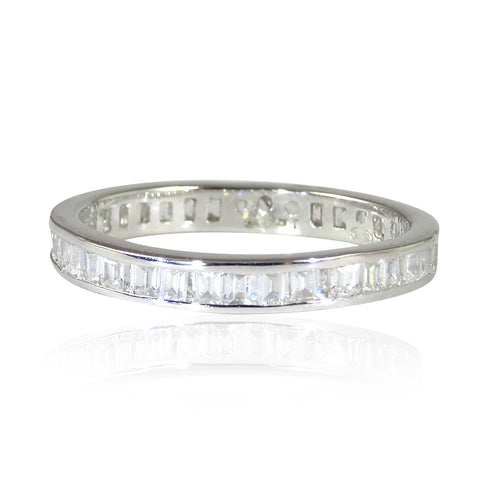 The 3mm Silver 'Diamond' Eternity Band