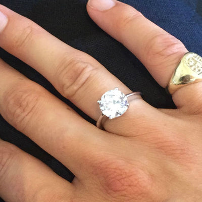 Classic Huge Solitaire 'Diamond' Ring