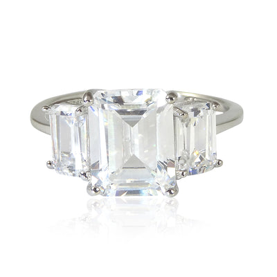 Classic Square Cut Engagement Ring