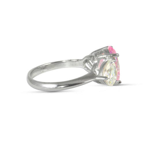 Some Like it Heart Pink 'Sapphire' Ring