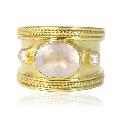 The Rose Quartz Guinevere Ring