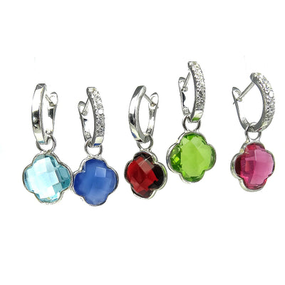 New Colours: The Silver Clover Detachable Gemstones