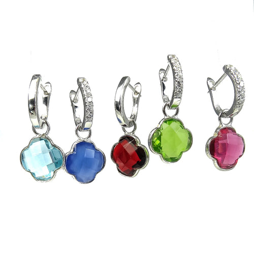 The Silver Clover Gemstone Detachables