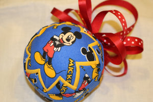 Blue Mickey Ornament