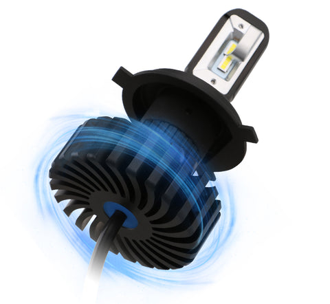 led headlight bulbs/fanless aluminum radiator