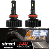 H11 LED Bulb Headlights Cars/Jeep/Trucks/Motorcycle - Street Unlimited