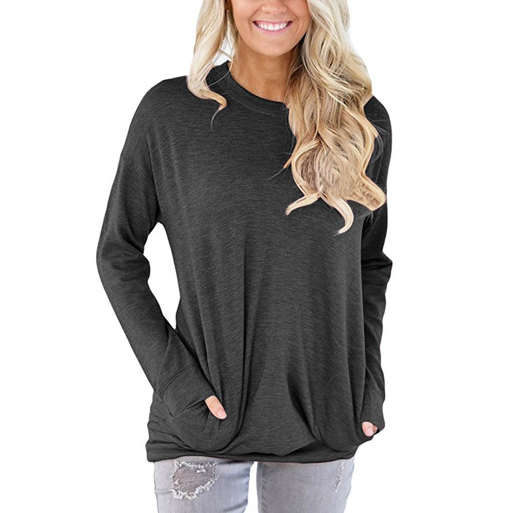Casual Long Sleeve Cotton Top