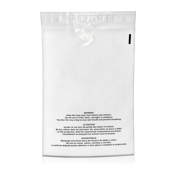 12 x 15.5 Clear Suffocation Warning Permanent Self Seal Poly Bags 1.5 Mil | Shop4Mailers