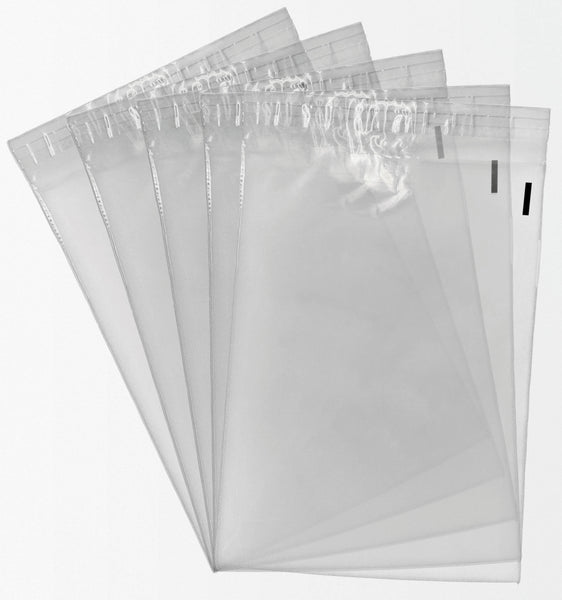 1000 19x24 Self Seal Suffocation Warning Clear Poly Bags 1.5 mil Free Shipping