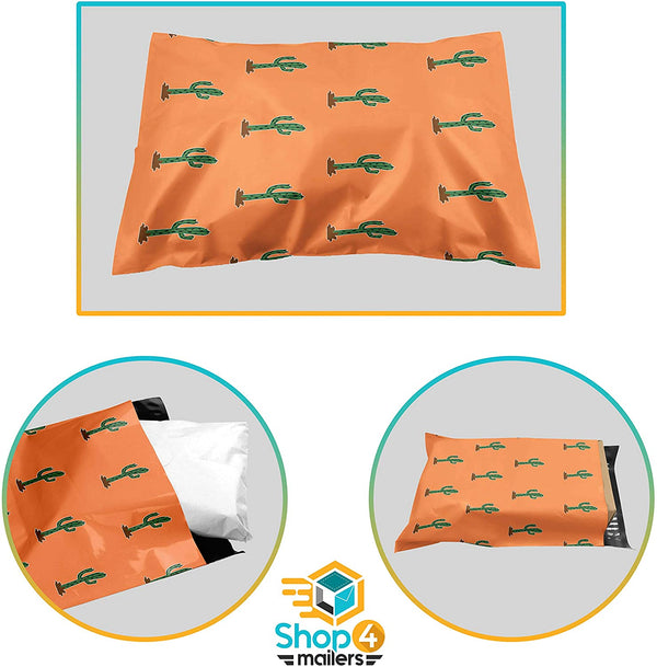 Shop4Mailers 10 x 13 Glossy Cactus Poly Bag Mailer Envelopes 2 Mil