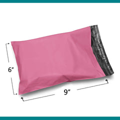 Shop4Mailers 6 x 9 Pink Poly Bag Mailer Envelopes 2 Mil