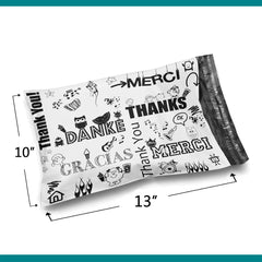 10x13 Glossy Multi-Language Thank You Poly Bag Mailer Envelopes 2 Mil | Shop4Mailers