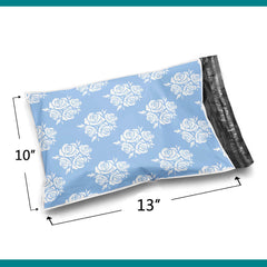 10 x 13 Glossy Blue Rose Poly Bag Mailer Envelopes 2 Mil | Shop4Mailers