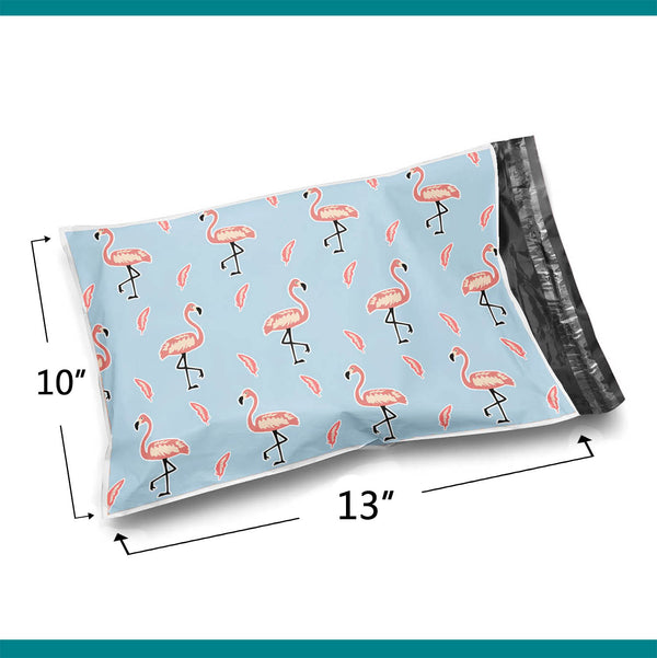 10x13 Glossy Pink Flamingos Poly Bag Mailer Envelopes 2 Mil | Shop4Mailers
