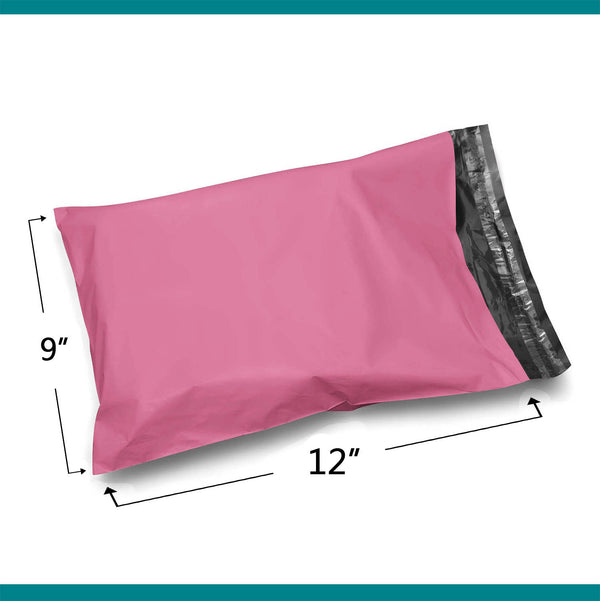 Shop4Mailers 9 x 12 Pink Poly Bag Mailer Envelopes 2 Mil