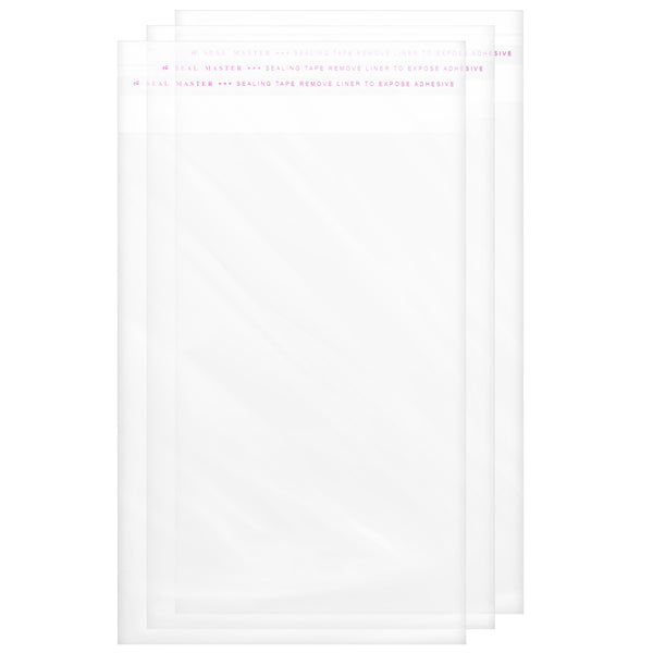 5 x 7 Clear Cellophane Resealable Bags Self Seal Envelopes 1.2 mil | Shop4Mailers