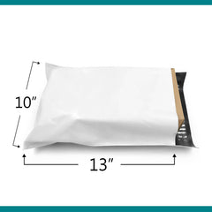 10x13 Glossy White Poly Bag Mailer Envelopes | Shop4Mailers