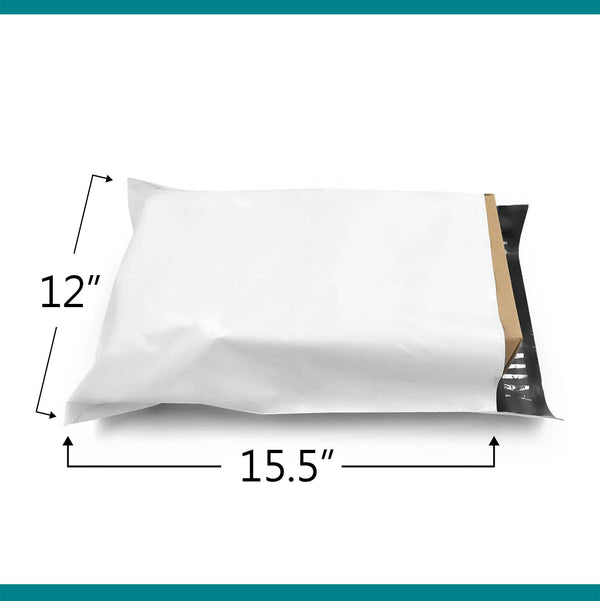12x15.5 Glossy White Poly Bag Mailer Envelopes | Shop4Mailers