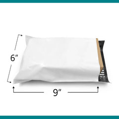 Shop4Mailers 6 x 9 Glossy White Poly Bag Mailer Envelopes 2-DAY