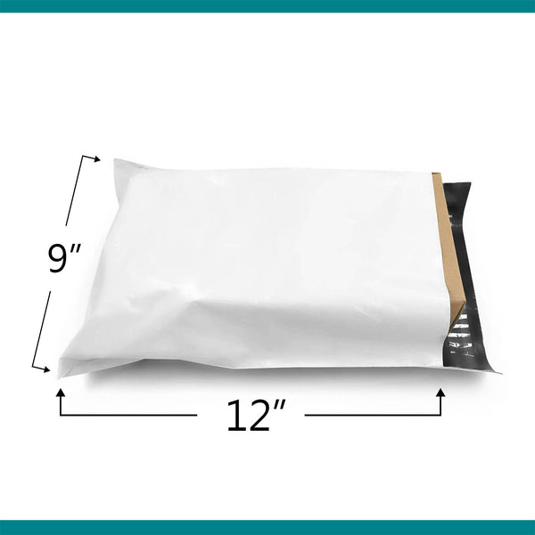Shop4Mailers 9 x 12 Glossy White Poly Bag Mailer Envelopes