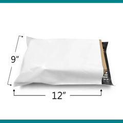 Shop4Mailers 9 x 12 Glossy White Poly Bag Mailer Envelopes 2-DAY