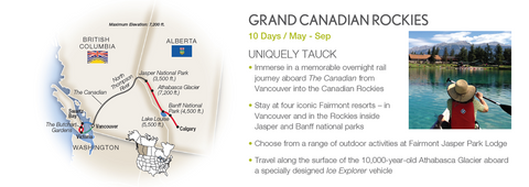 Grand Canadian Rockies Travel Package