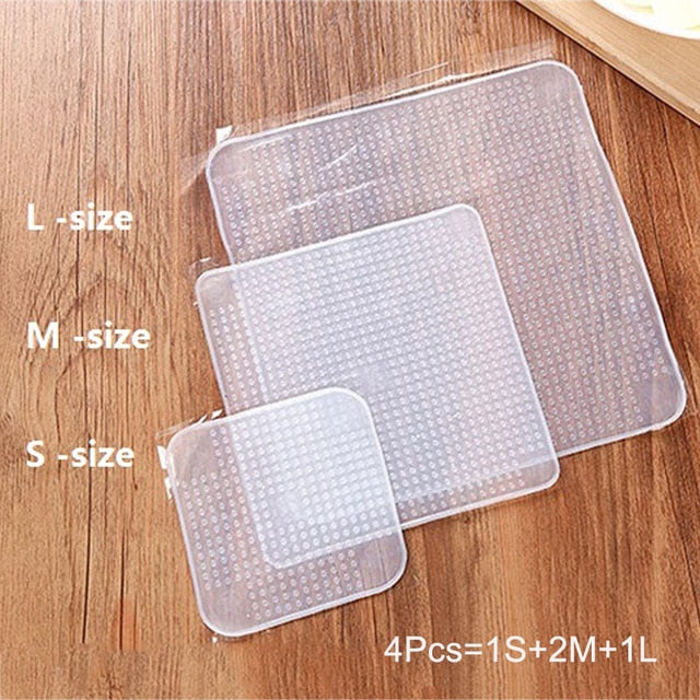 Lot de 4 CleanCover - Couvercles en silicone réutilisables