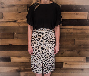 WORTHINGTON'S Women's Leopard Pencil Skirt