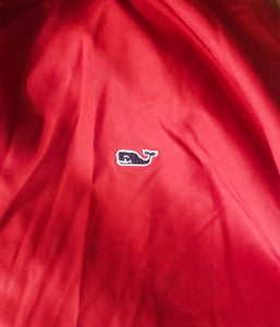 Boy's VINEYARD VINES Red Jacket With Grey Hood