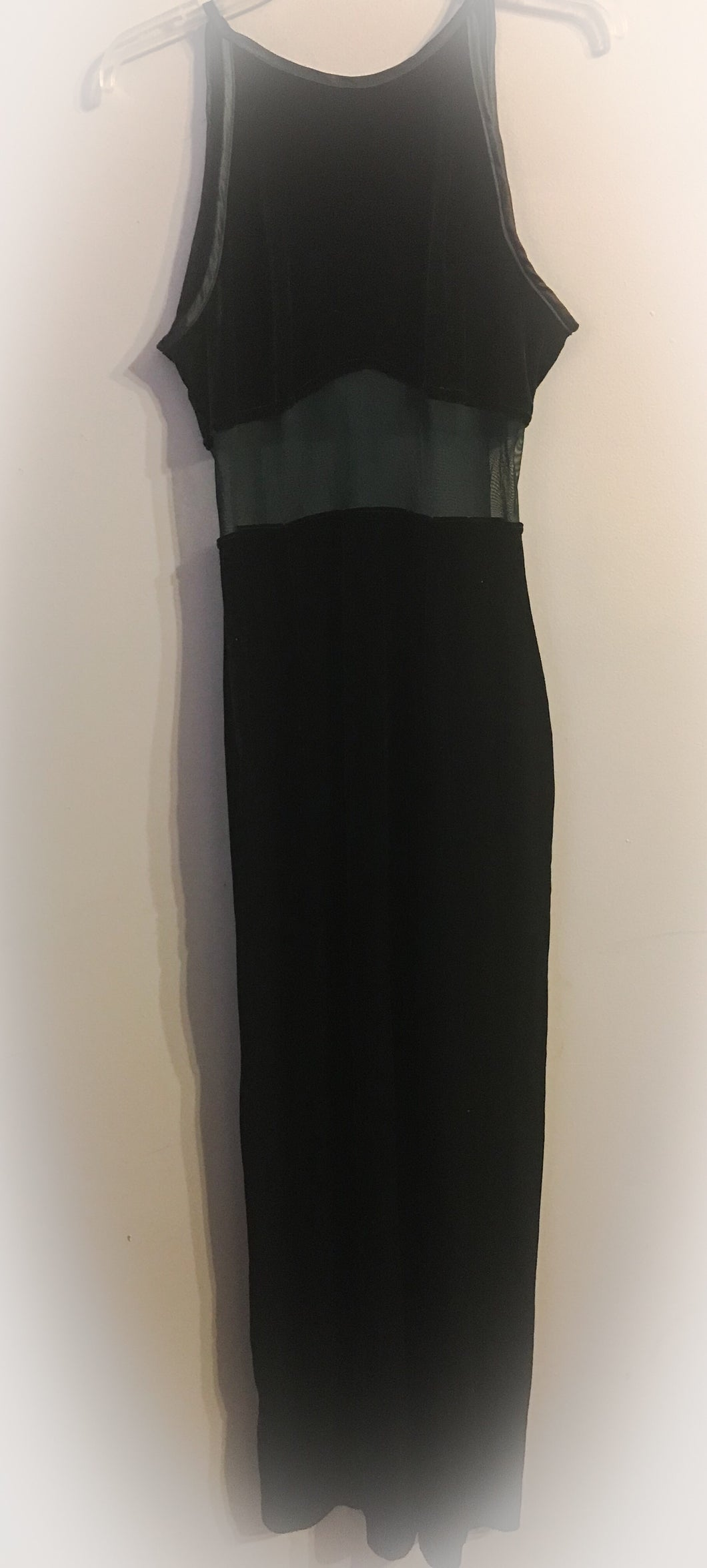 Long Dark Green Velvet Dress