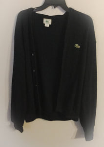 Men's LACOSTE Navy Blue Cardigan Sweater