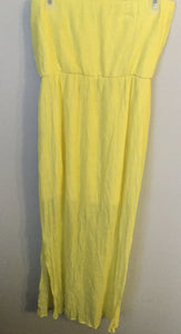 Women's Yellow Maxi Dress With Aztec Detailing