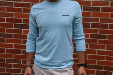 Load image into Gallery viewer, Men's Light Blue Long Sleeve PATAGONIA Shirt