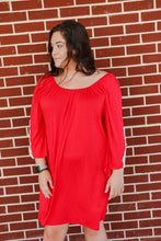 Load image into Gallery viewer, Women's THE HANGER Red Dress With Lace