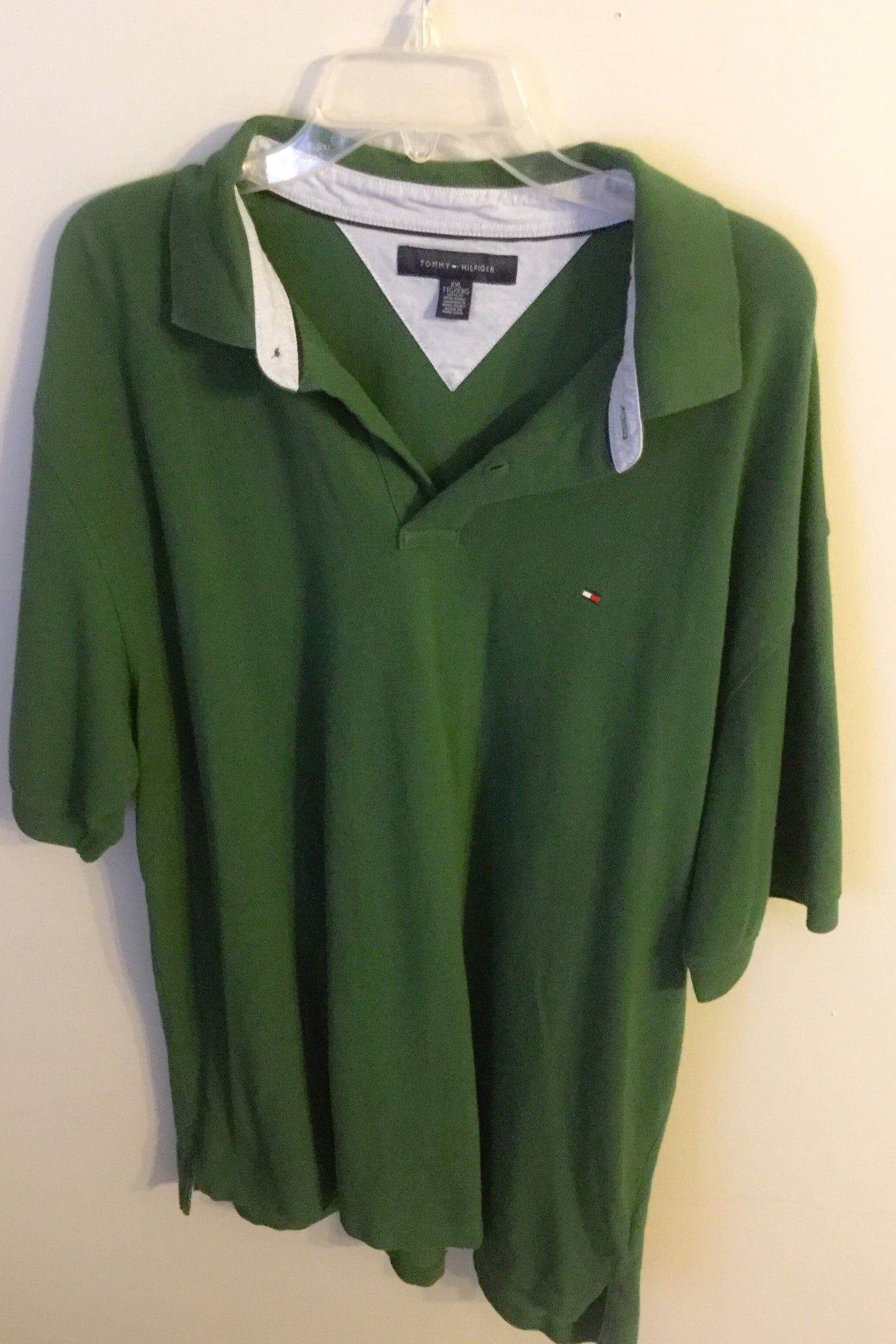 248eb66e Load image into Gallery viewer, Men's Green Polo Style TOMMY HILFIGER Shirt  ...