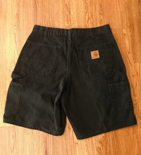 Load image into Gallery viewer, Men's Black Denim CARHARTT Shorts