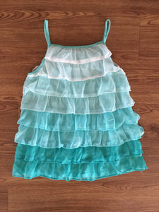 Girl's Aqua Ruffled GAP Top