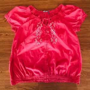 Women's Pink IZOD Embroidery Top