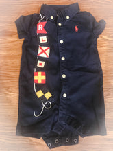 Load image into Gallery viewer, Boy's POLO RALPH LAUREN Navy Blue Onesie With Flags