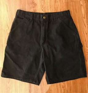 Men's Black Denim CARHARTT Shorts