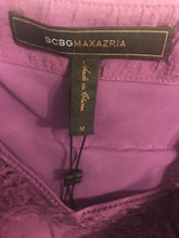Load image into Gallery viewer, Women's BCBGMAXAZRIA Purple Ruffle Top