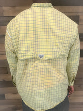 Load image into Gallery viewer, Men's Yellow Plaid Long Sleeve COLUMBIA Shirt