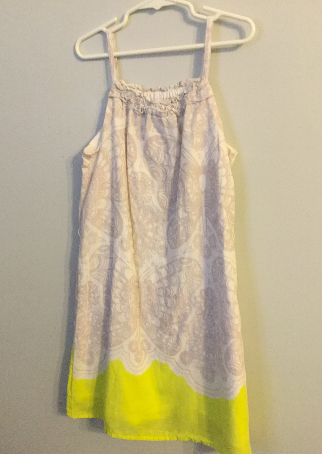 Girl's OLD NAVY Grey & Neon Green Butterfly Dress