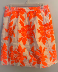 Women's J. CREW Coral Flower Skirt