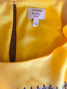 Women's Yellow Detailed CROWN & IVY Dress