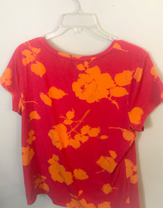 Women's Pink & Orange Flower MERONA Shirt